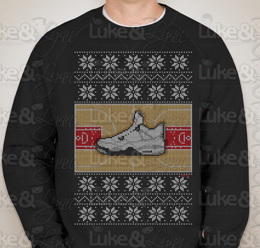 """Jordan Retro 4 Ugly Sweater"" Unisex (Men/Women) Sweatshirt"