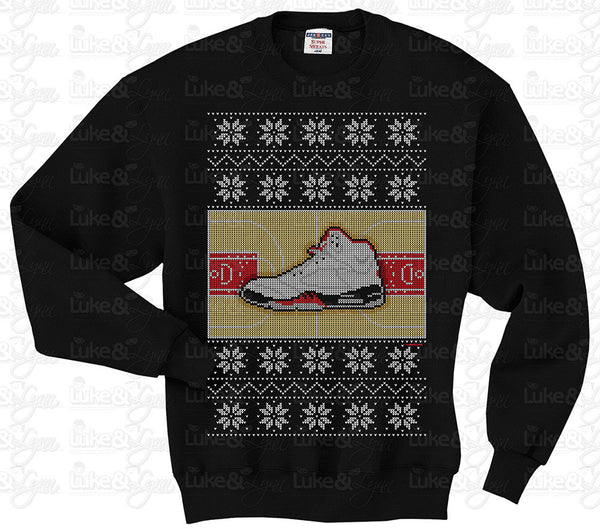 """Jordan Retro 5 Ugly Sweater"" Unisex (Men/Women) Sweatshirt"