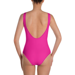 "Lynn ""Beauty-Face"" One-Piece Blue/Fuchsia Swimsuit by Luke&Lynn Clothing www.lukeandlynn.com"