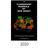 Fluorescent Minerals of New Jersey 2020 Wall Calendar Ultraviolet Rocks - DVHdesigns