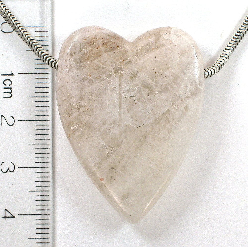 DVH Tanzanian Sunstone Polished Heart Focal Bead 41x31x9 (6392)