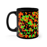 Fluorescent Calcite Willemite Print Black Mug 11oz! Franklin, New Jersey Rocks! - DVHdesigns