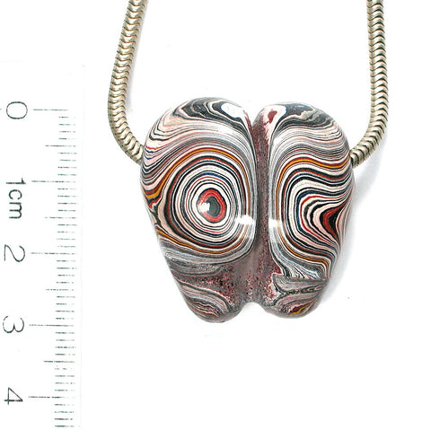 "DVH Genuine Fordite ""Molar"" Focal Bead 31x29x15 (8992)"