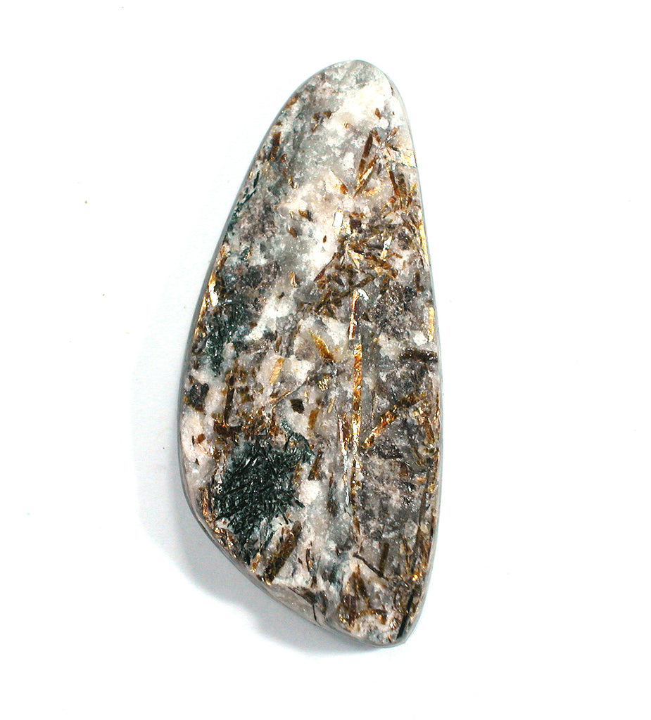DVH Astrophyllite Natural Surface Cabochon Druzy Fireworks Stone Cab 49x22x7mm (2383) - DVHdesigns