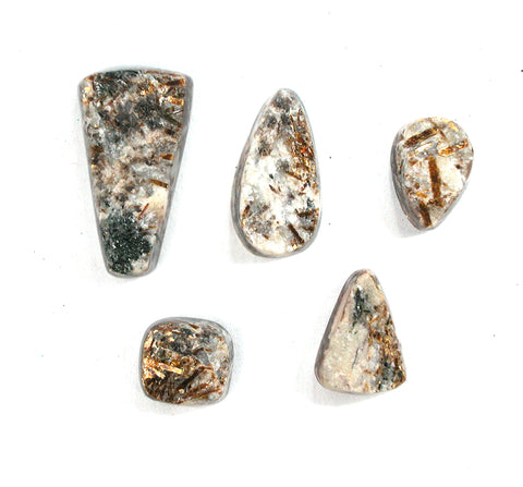 DVH Asst Astrophyllite Natural Surface Cabochons Druzy Fireworks Stone Cabs (2716)