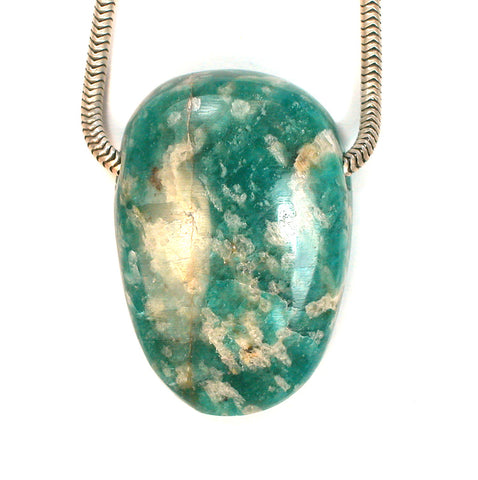 DVH Russian Amazonite Focal Bead 33x23x11mm (1769)