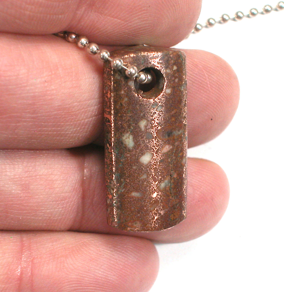 DVH Michigan Copper Firebrick Keweenaw Dog Tag Pendant 31x14x6 (3053)