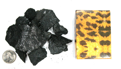 DVH 2oz Gift Box Lignite Coal Chips Tennessee Genuine Carbon Crystals - DVHdesigns