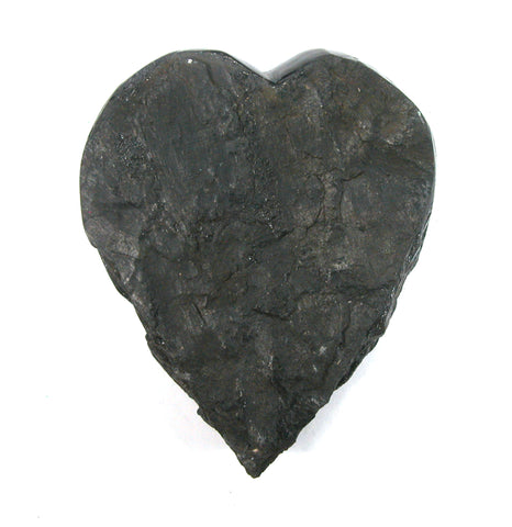 DVH Natural Lignite Coal Fossil Fuel Altar Heart Healing Crystal 72x62x20mm (2643) - DVHdesigns