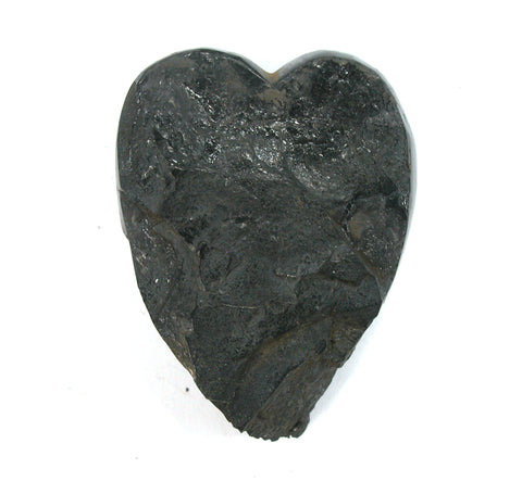 DVH Natural Lignite Coal Fossil Fuel Altar Heart Healing Crystal 60x45x19mm (2644) - DVHdesigns