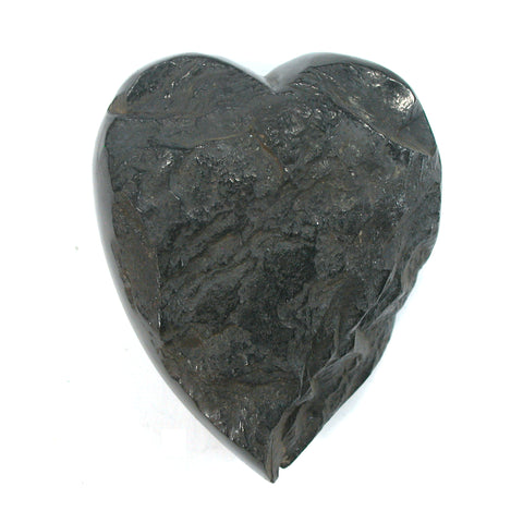 DVH Natural Lignite Coal Fossil Fuel Altar Heart Healing Crystal 55x45x22mm (2645) - DVHdesigns