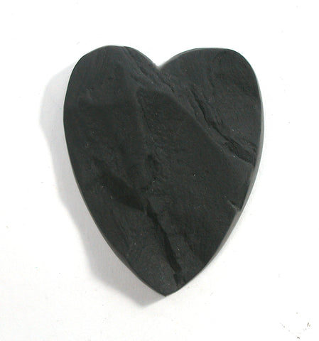 DVH Natural Surface Slate Broken Heart Cabochon Cab 48x39x10 (2627) - DVHdesigns