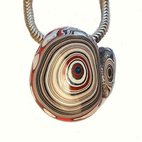 DVH Fordite Ford Paint Freeform Focal Bead 22x21x11mm (1134) - DVHdesigns