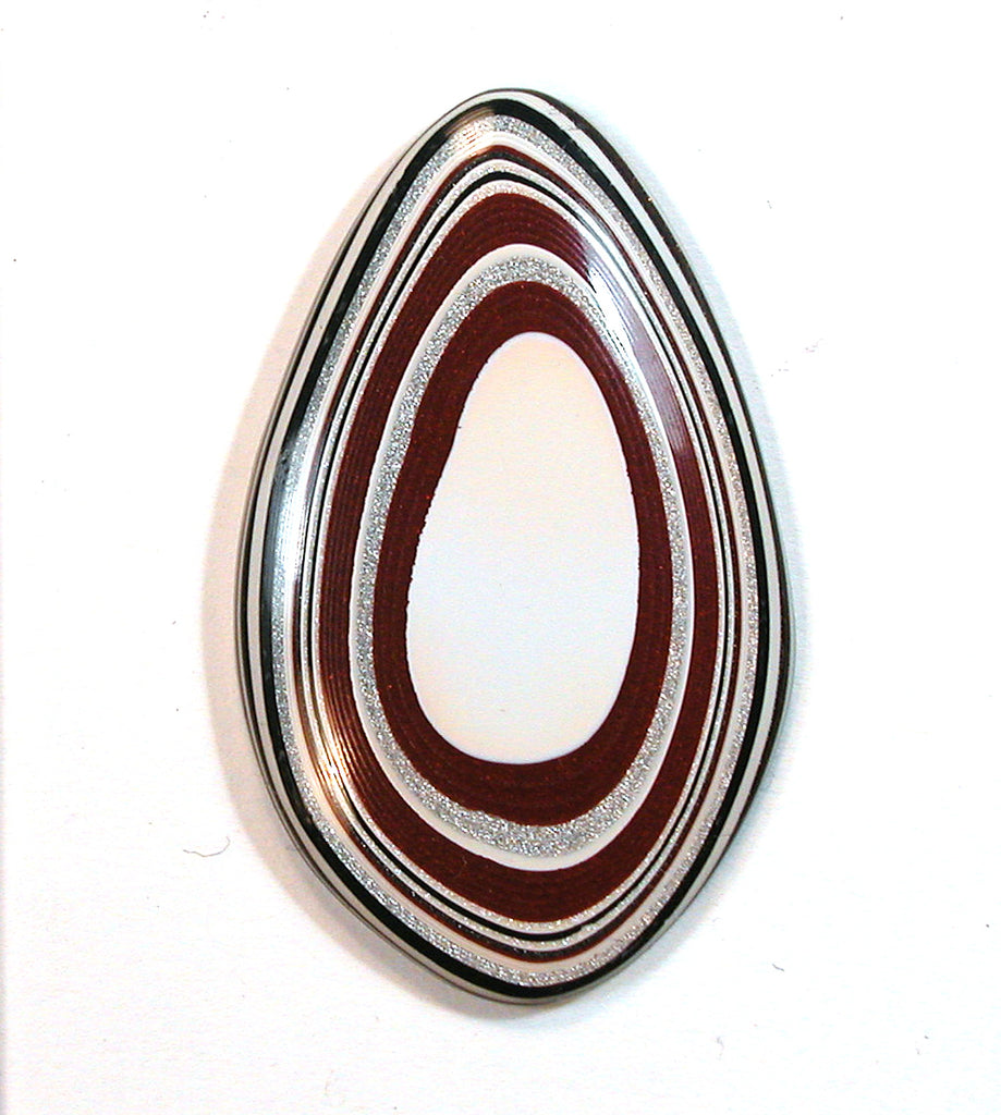DVH Fordite Ford Paint Freeform Cabochon 37x23x4mm (1387)