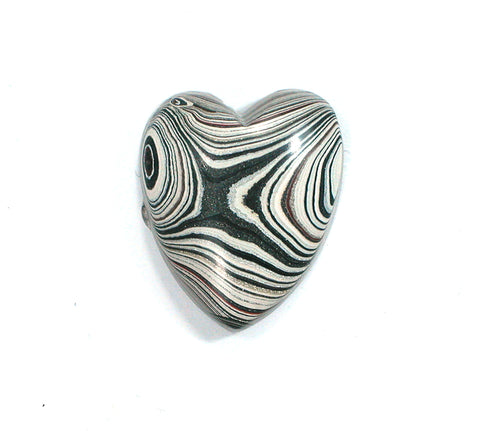 DVH Genuine Ford Fordite Heart Cabochon Cab 21x18x6mm (2352) - DVHdesigns