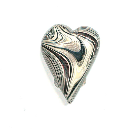 DVH Genuine Ford Fordite Heart Cabochon Cab 24x17x7mm (2354) - DVHdesigns