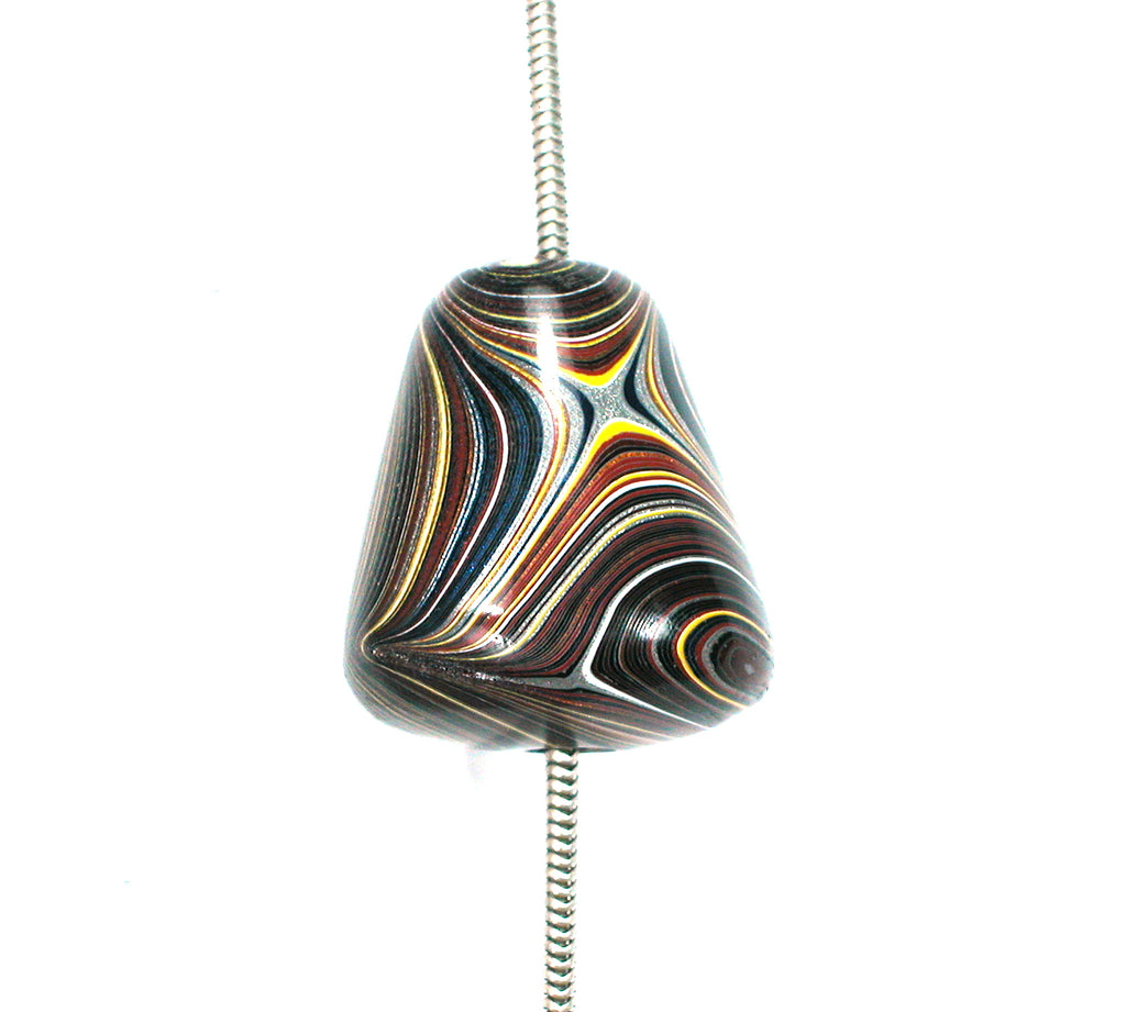 DVH Corvette Fordite Recycled Car Paint Bead Pendant 22x20x18mm (2421) - DVHdesigns