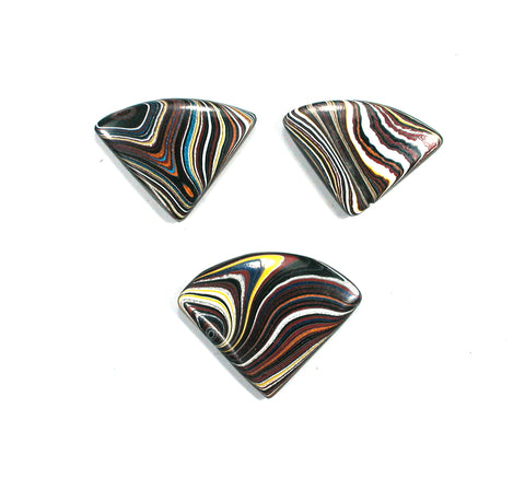 DVH Corvette Fordite Recycled Car Paint Cabochon Pair Suite (2411) - DVHdesigns