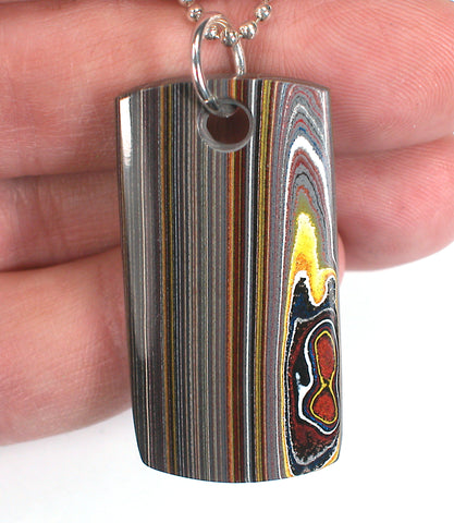 DVH Corvette Fordite Recycled Car Paint Pendant Necklace 43x22x5 (3153)
