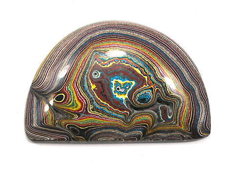 DVH Corvette Fordite Cabochon Recycled Car Paint 52x34x7 (3337)