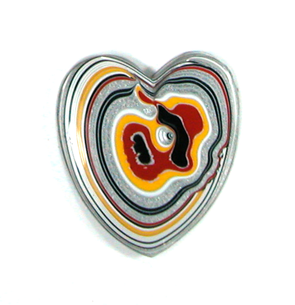 DVH Ford Truck Fordite Heart Cabochon REcycled Paint 30x27x4 (2489) - DVHdesigns