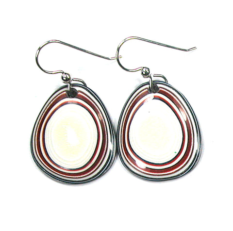 DVH Ford Truck Fordite Earrings Sterling French Wire 25x21x3 (2880)