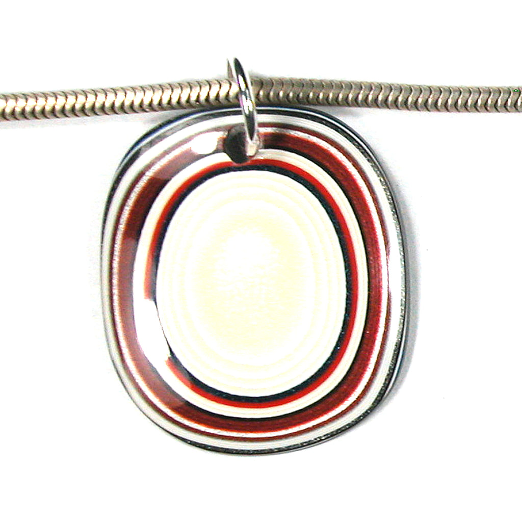 DVH Fordite Bead Pendant Recycled Ford Truck Paint 32x28x3 (2913)