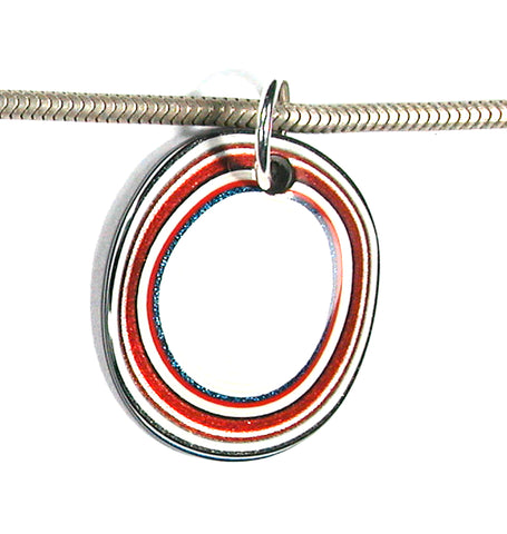 DVH Fordite Bead Pendant Recycled Ford Truck Paint 27x23x3 (2915)