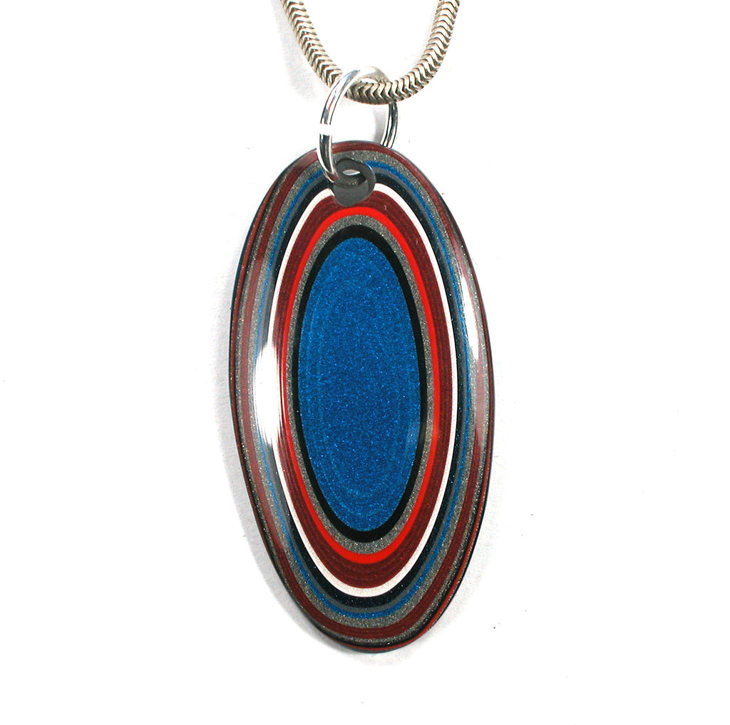 DVH Fordite Bead Pendant Recycled Ford Truck Paint 42x21x4 (2920)