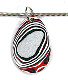 DVH Kenworth Truck Fordite Bead Pendant Recycled Paint 41x27x4 (2996)