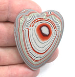 DVH Ford Focus Fordite Cabochon 2 Sided Heart Cab Michigan 48x38x5 (3137)