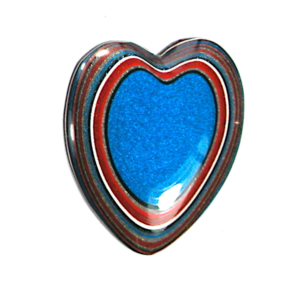 DVH Ford Truck Fordite Heart Cabochon Kansas City Cab 33x29x4 (3230)