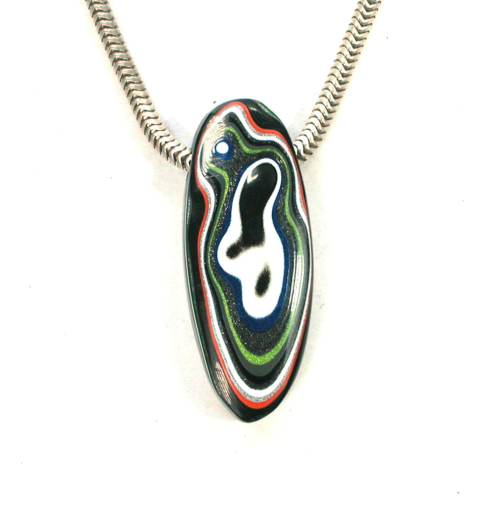 DVH Jeep Fordite Car Paint Bead Pendant 30x12x7mm (2229) - DVHdesigns