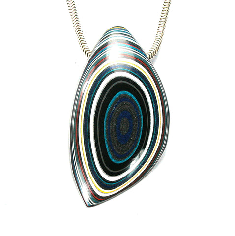 DVH Jeep Fordite Recycled Car Paint Bead Pendant 45x26x10 (2601) - DVHdesigns