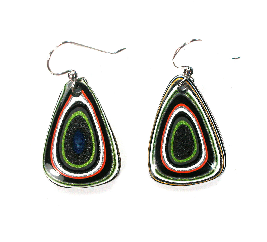 DVH Jeep Fordite Recycled Car Paint Earrings 24x18x4 (2609) - DVHdesigns