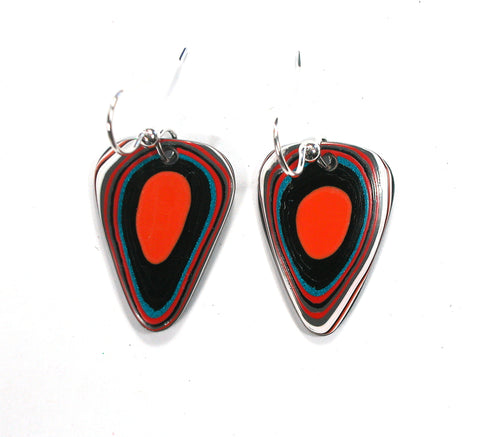 DVH Jeep Fordite Recycled Car Paint Earrings 26x18x3 (2611)