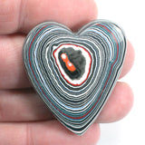 DVH Jeep Fordite Heart Cabochon Recycled Car Paint Cab 40x34x5 (3204)