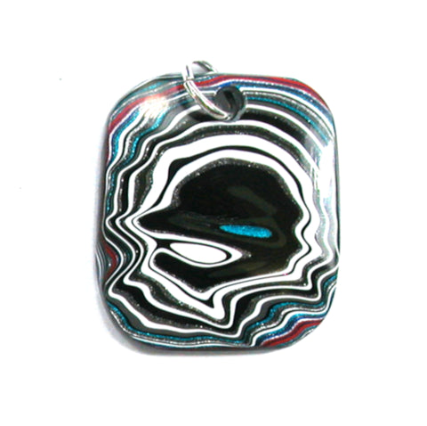 DVH Jeep Fordite Pendant Necklace Recycled Car Paint 29x25x4 (3553)