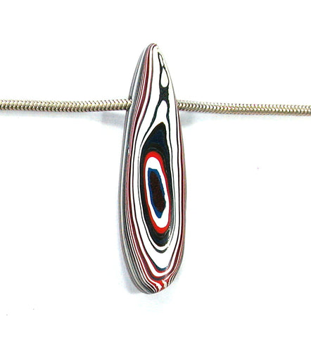 DVH Kenworth Fordite Bead Pendant Recycled Truck Paint 48x13x9 (2706)