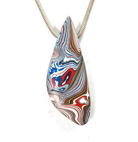 DVH Kenworth Fordite Bead Pendant Recycled Truck Paint 52x20x7 (2730)