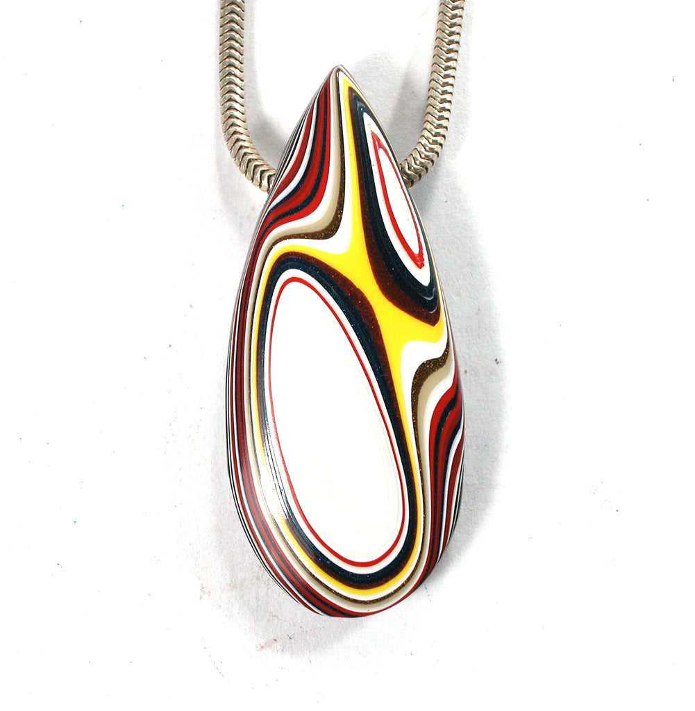 DVH Kenworth Fordite Bead Pendant Recycled Truck Paint 44x19x8 (2731)