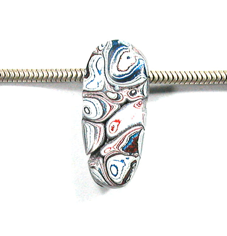 DVH Kenworth Fordite Bead Pendant Recycled Truck Paint 27x12x10 (2898)