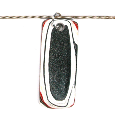 DVH Ford Truck Fordite Pendant Necklace Recycled Paint Kentucky 53x23x4 (3320)