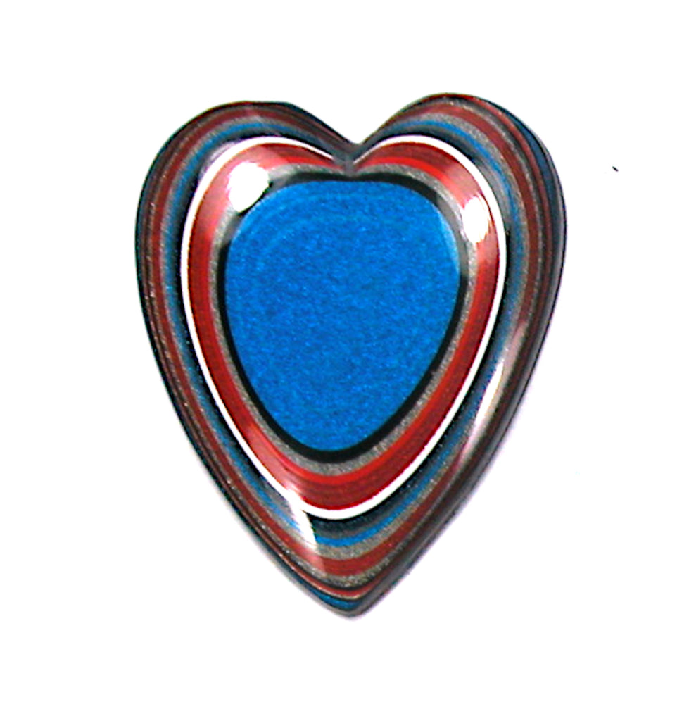 DVH Ford Truck Fordite Heart Cabochon Kansas City Assembly Cab 35x29x4 (3398)