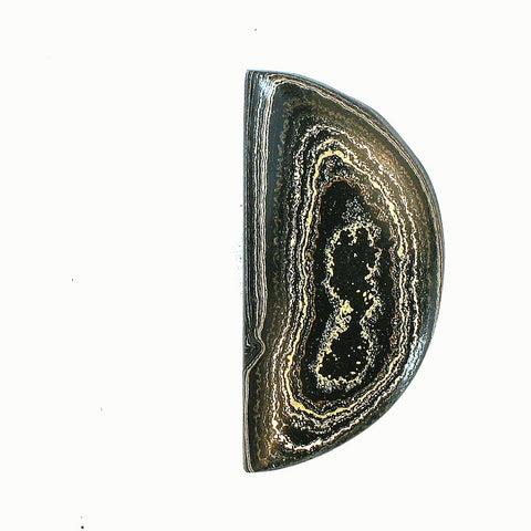 DVH Fordite From Powder Coating Freeform Cabochon 37x18x5mm (1021) - DVHdesigns