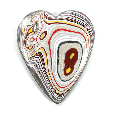 DVH Ford Focus Fordite Heart Display Specimen Wayne Michigan 73x61x9 (3580)