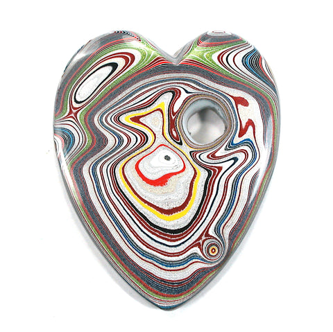 DVH Ford Focus Fordite Heart Display Specimen Wayne Michigan 63x52x9 (3581)