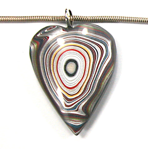 DVH Ford Focus Fordite Heart Pendant Wayne Michigan 41x32x10 (3590)