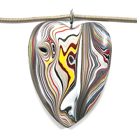 DVH Ford Focus Fordite Heart Pendant Wayne Michigan 52x41x8 (3591)