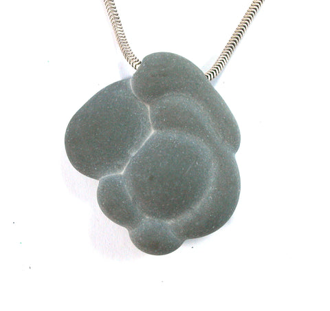 DVH Fairy Stone Concretion Bead Pendant Goddess Rock Quebec 41x36x11 (2587) - DVHdesigns
